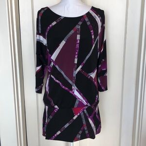 WHBM Jersey Short Dress Black Purple